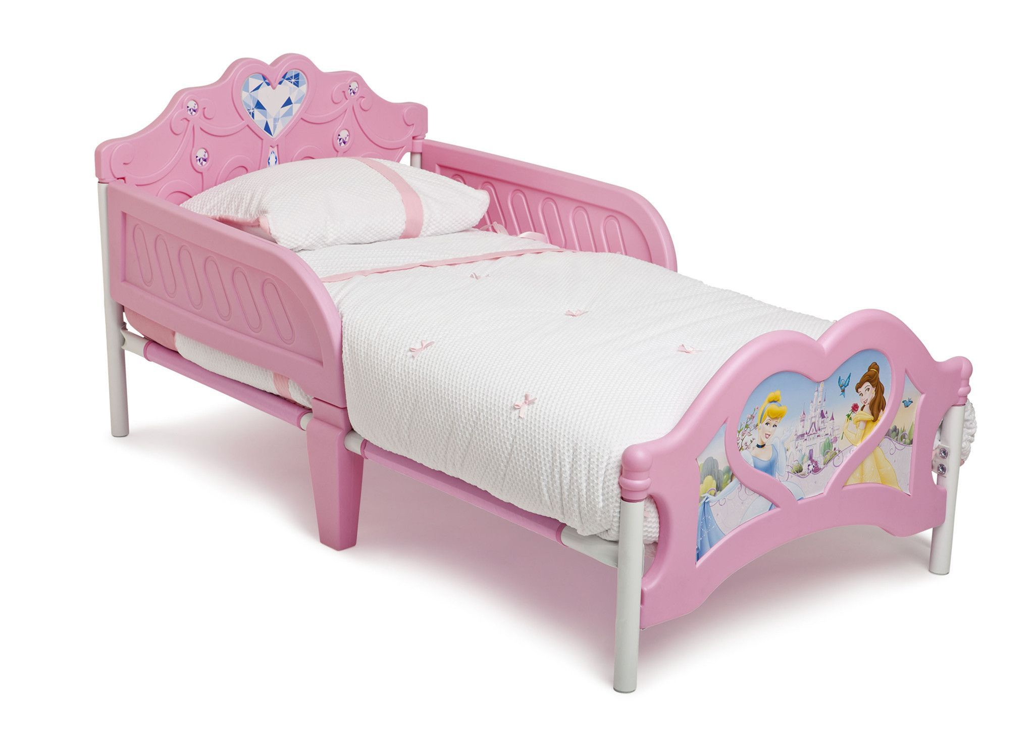 make her bedroom magical with this disney princess 3d plastic toddler bed from delta children