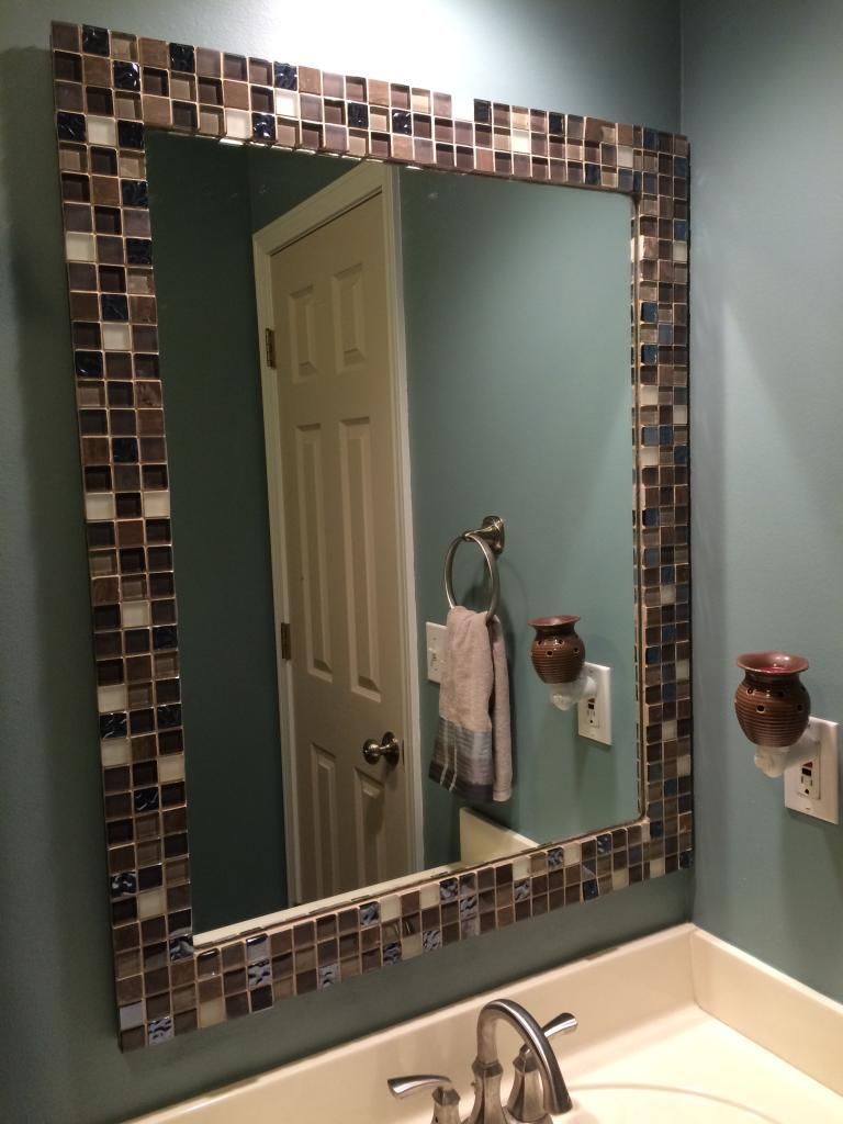 a to z with a little j mirror makeover tile framed
