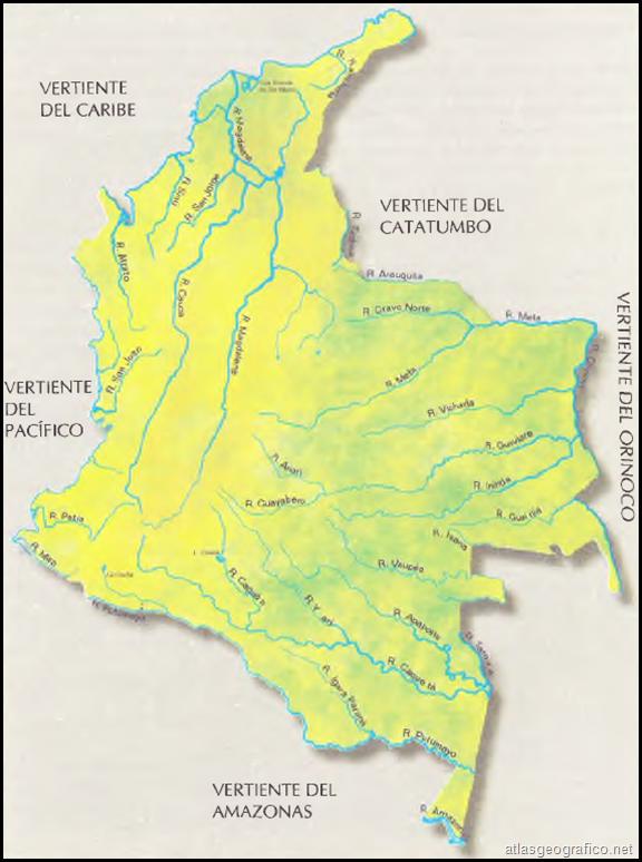 mapa de colombia y sus vertientes buscar con google lugares y
