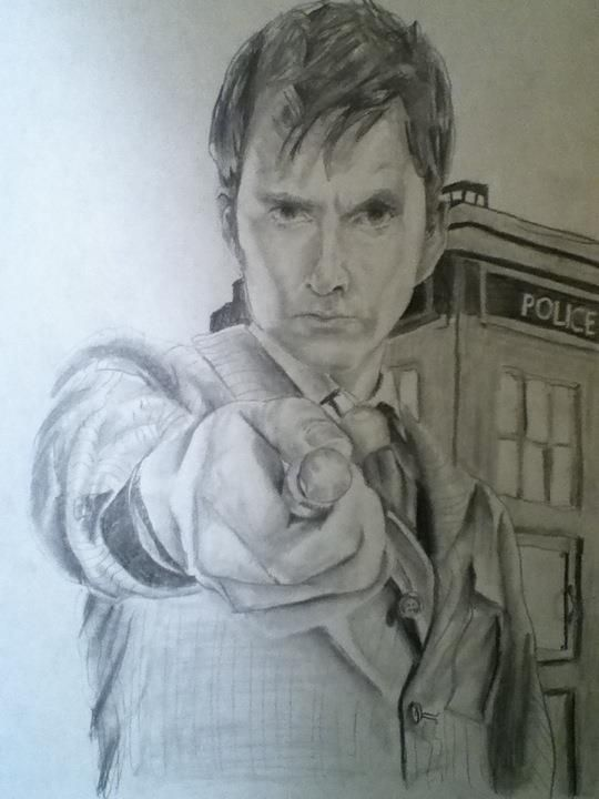 The Doctor drawing by Sarah Stephens