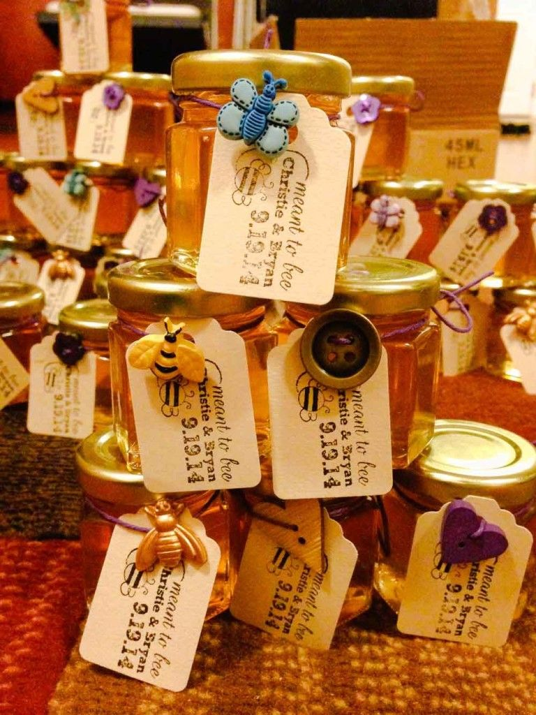 best homemade bridal shower gifts%0A We love this easy bridal shower favor DIY  our  oz Honey Favors are  personalized with