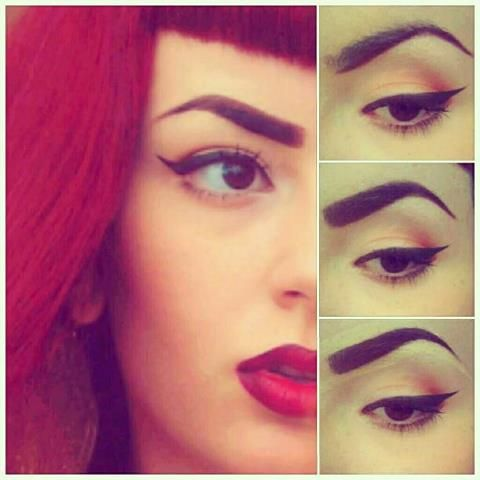 I know this is about eyebrows but I like her eyeshadow colors.  Sara Ashouri - full brows