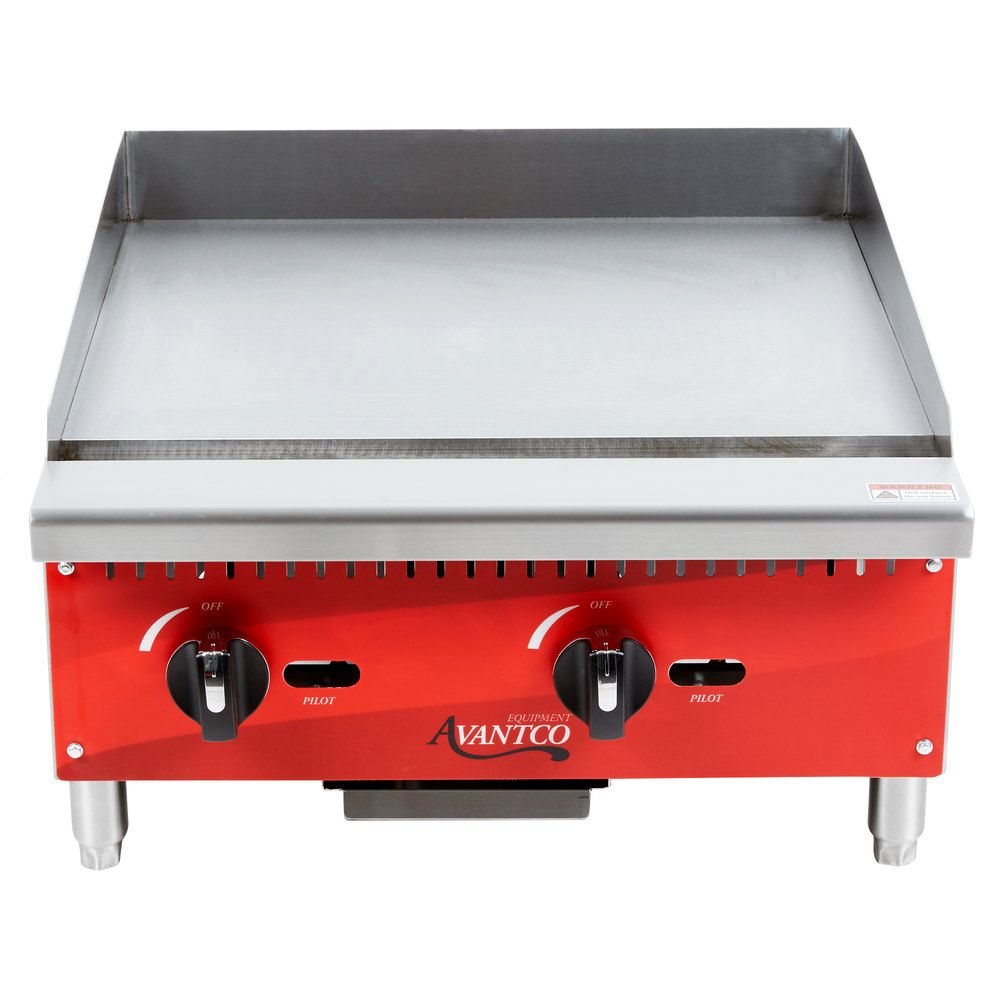Avantco Ag24mg 24 Countertop Gas Griddle With Manual Controls