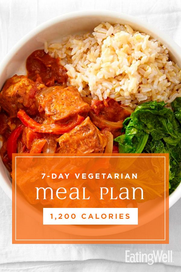 7-tägiger vegetarischer Speiseplan: 1.200 Kalorien   – Healthy Meal Plans