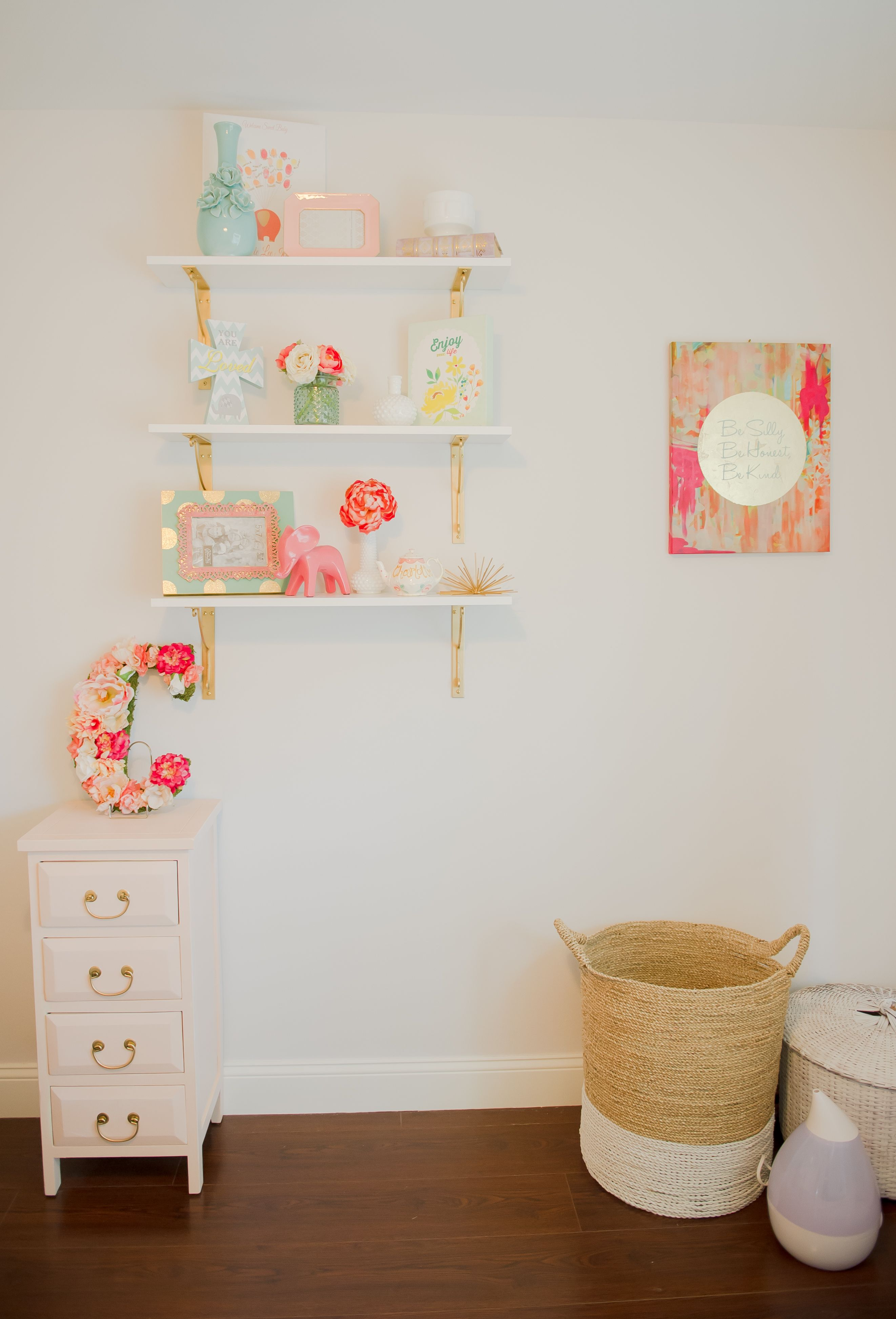 Mint, Blush and Gold Nursery on a Budget (With images