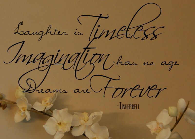 Tinkerbell quote dreams are forever vinyl wall decal tinkerbell quote dreams are forever vinyl wall decal voltagebd