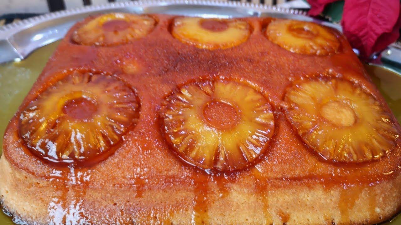 كيكة الأناناس المقلوبة بمذاق رهيييب بنصحكن تجربوها Food Pineapple Fruit