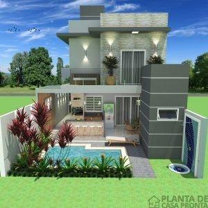 Projeto Casa Sobrado Cs 30 Planta De Casa Pronta