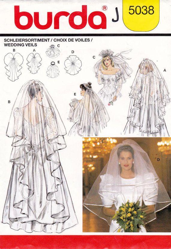 Wedding Veils Sewing Pattern Burda 5038 by allthepreciousthings ...