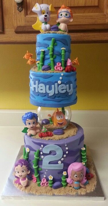 Incredible Bubble Guppies Cake Bubble Guppies Birthday Cake Bubble Guppies Birthday Cards Printable Inklcafe Filternl