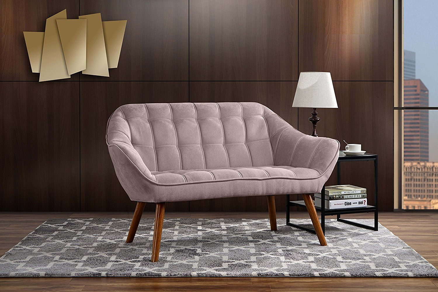 amazon couch for living room tufted linen fabric