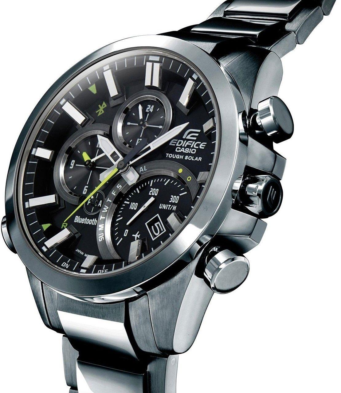 dd72ffc375e6 Casio Edifice Analogue Bluetooth Watch Tough Solar Chronograph Black ...