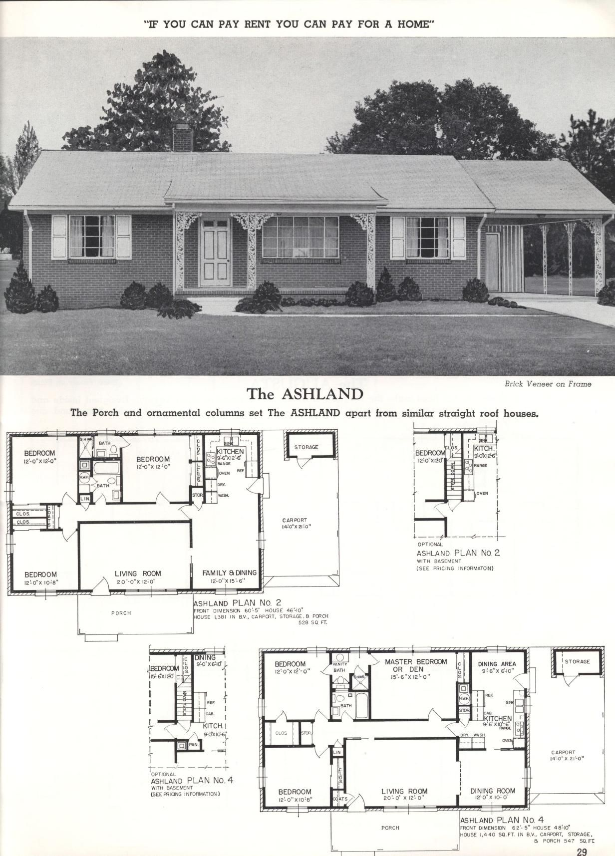 Better Homes At Lower Cost A 46 By Standard Homes Co The Ashland Vintage House Plans House Plans With Photos Better Homes