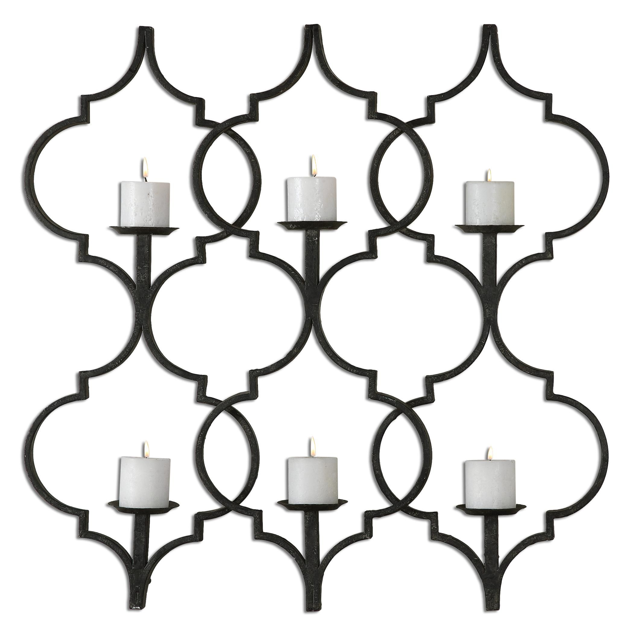 Alternative wall decor zakaria metal candle wall sconce by uttermost