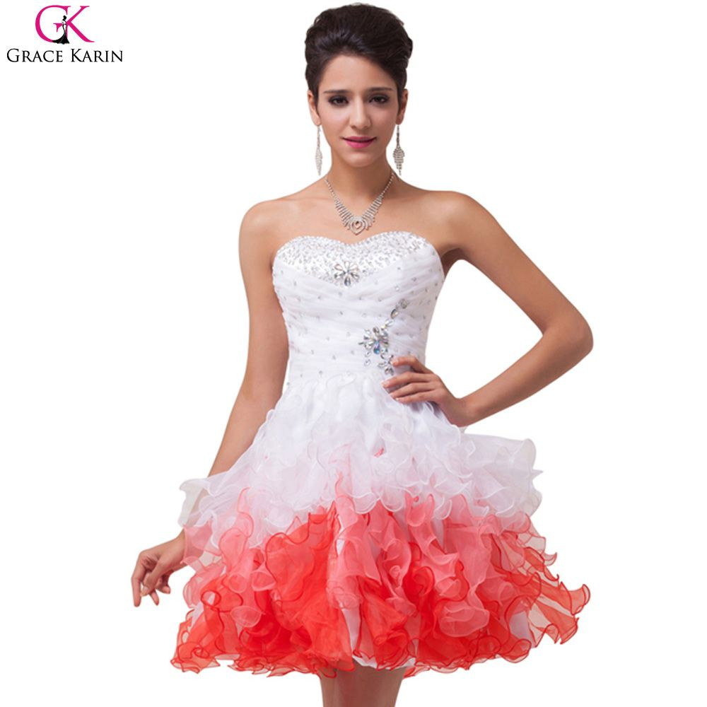 Click to buy ucuc short puffy prom dresses grace karin sweetheart