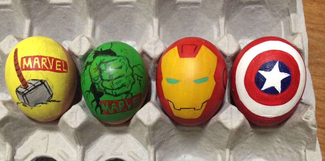 Easter egg. Happy Easter! With Avengers! This is Avengers ...