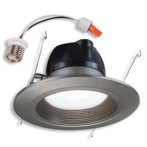 outdoor recessed light halo 6 in recessed satin nickel led trim