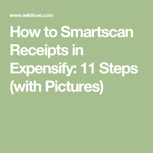 Smartscan Receipts in Expensify | ocr