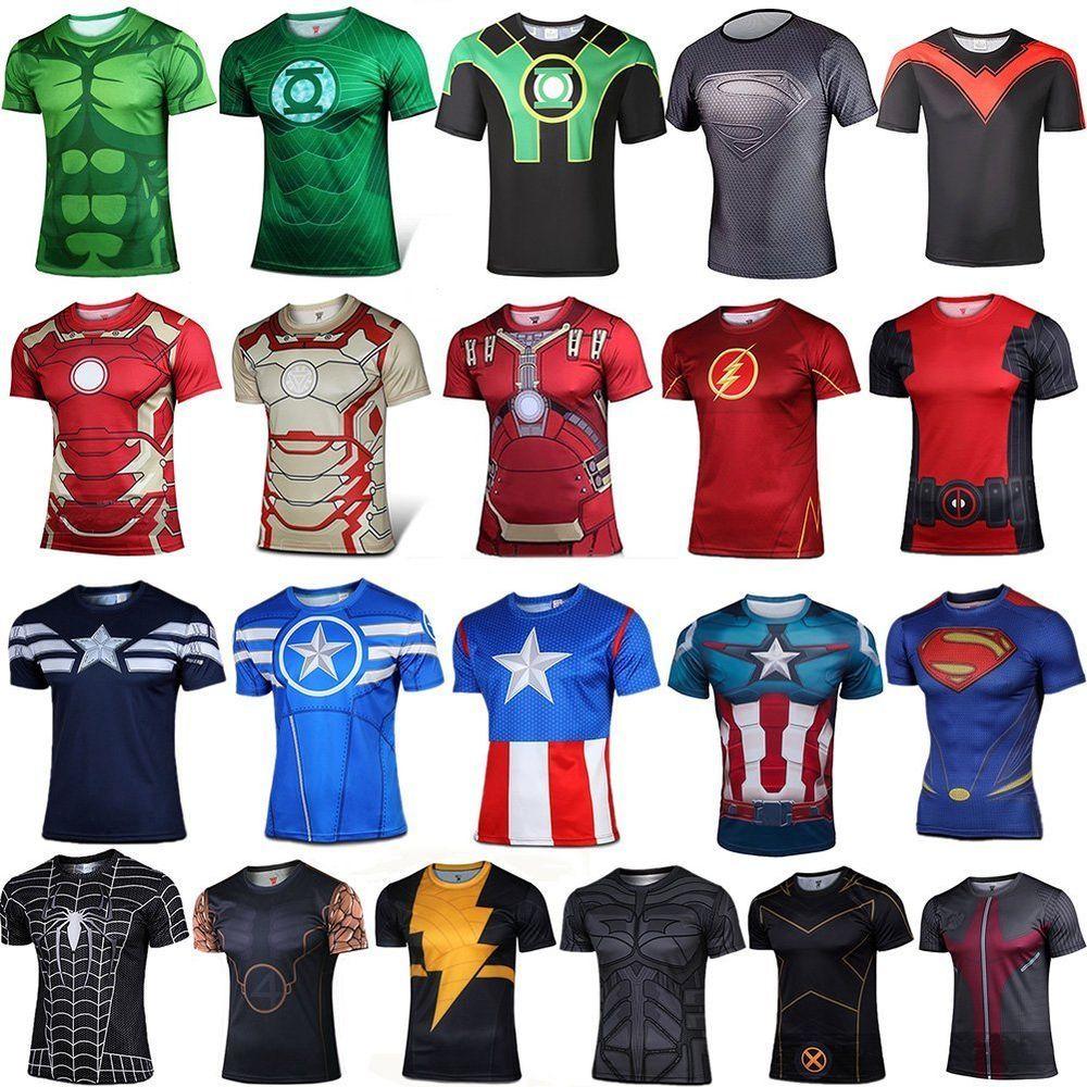 HOT Marvel Superhero Comics Costume Cycling TShirts Short