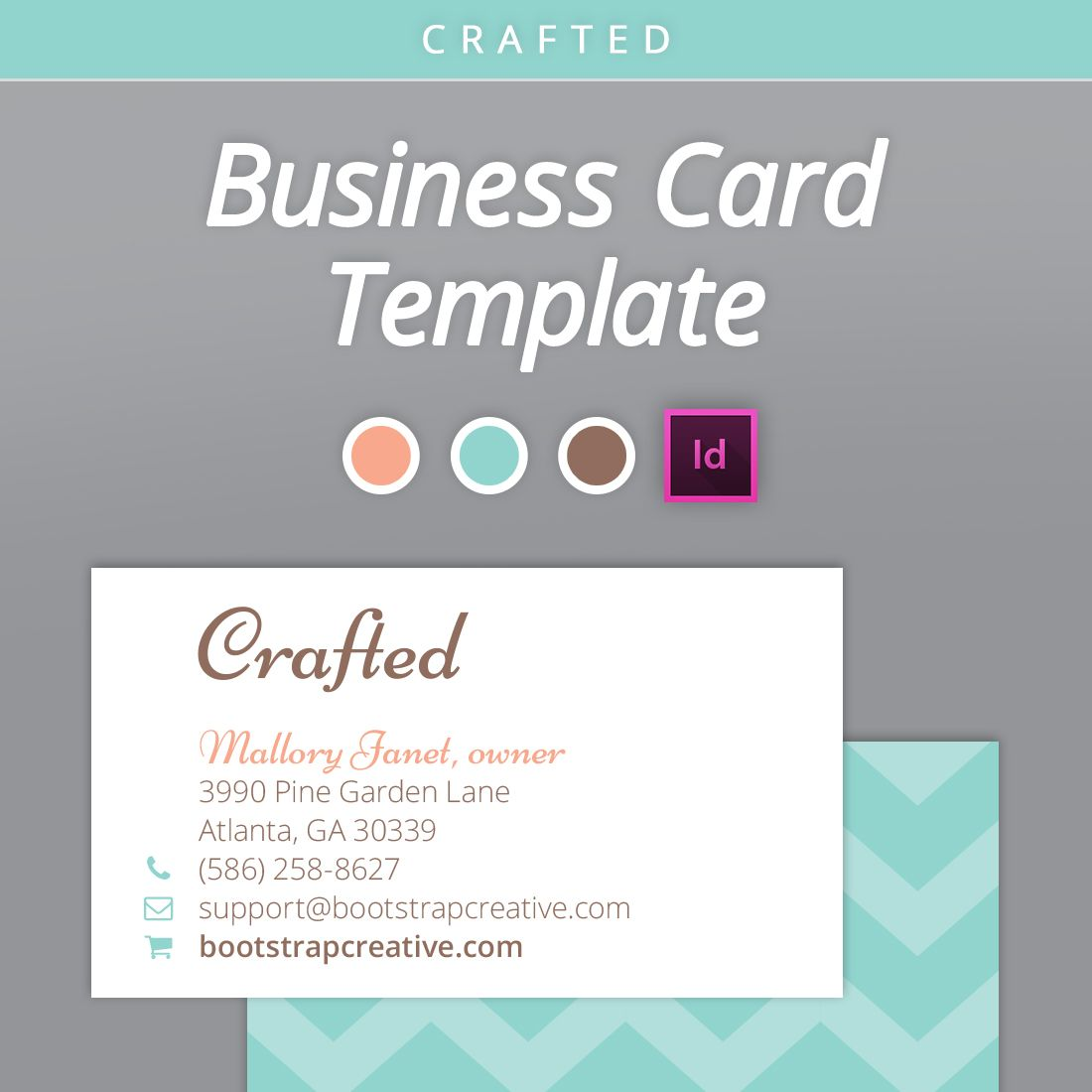 Business Card Handmade Shop Google Pretraživanje Graphic - Business card template indesign