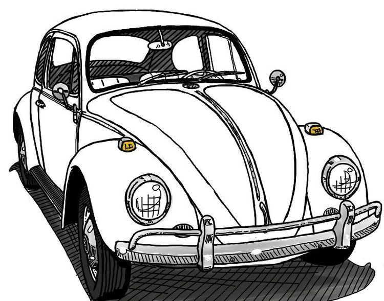 Pingl par giulilla giulilla sur cute illustrations - Dessin coccinelle vw ...