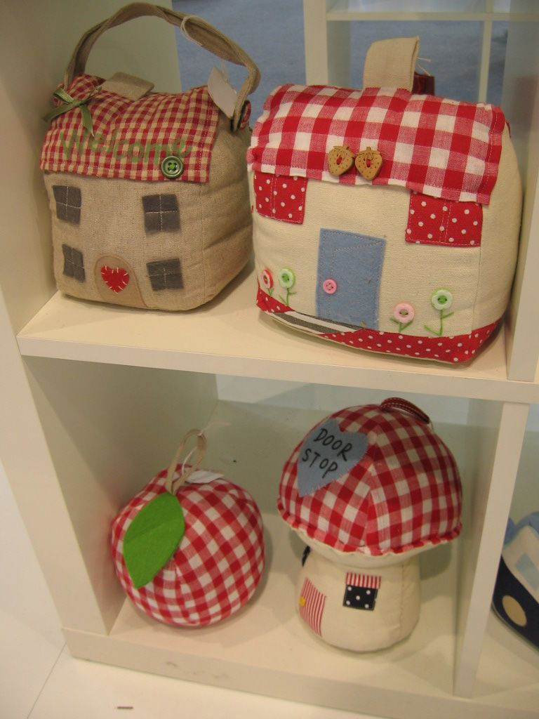 Door stop from Milano, but how cute would it be to make a toaster cover  like a little house?