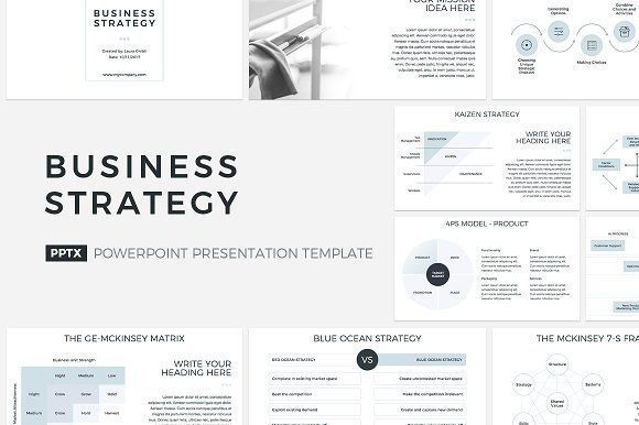 business strategy powerpointcreativeslides on @creativemarket, Presentation templates