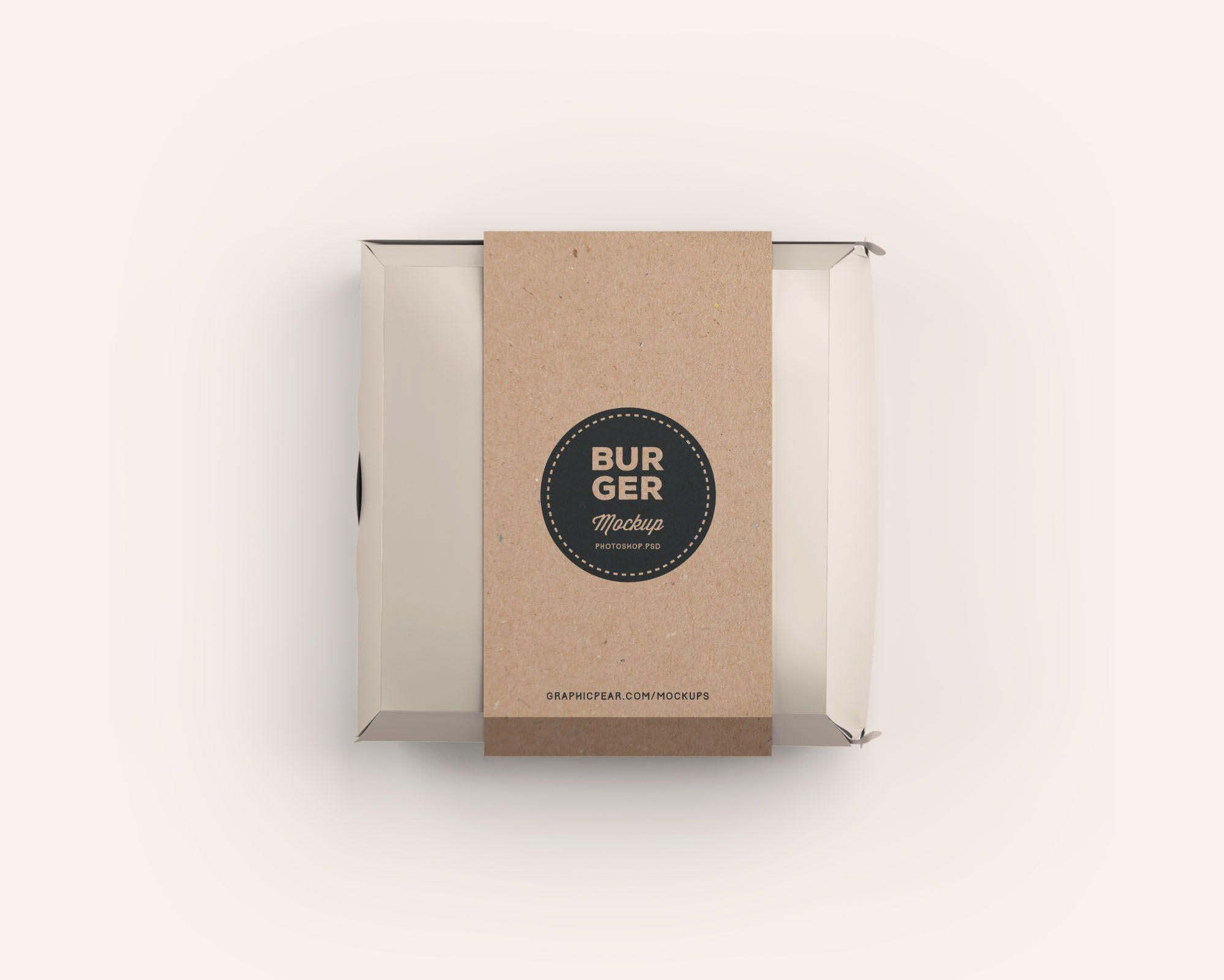 Download Burger Box Package Mockup Apemockups