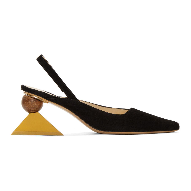 Jacquemus zapatos mules con talón descubierto - Negro farfetch el-rosa Otoño/Invierno UZ61ce