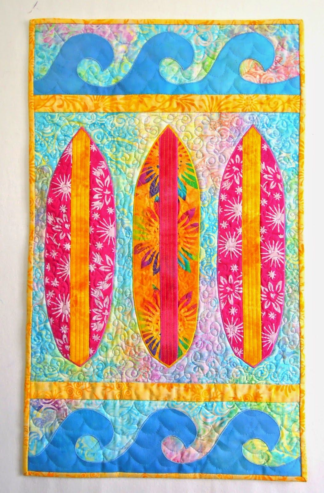 Sea Quilts Surfboards X Nine Surfboard And Waves Quilt