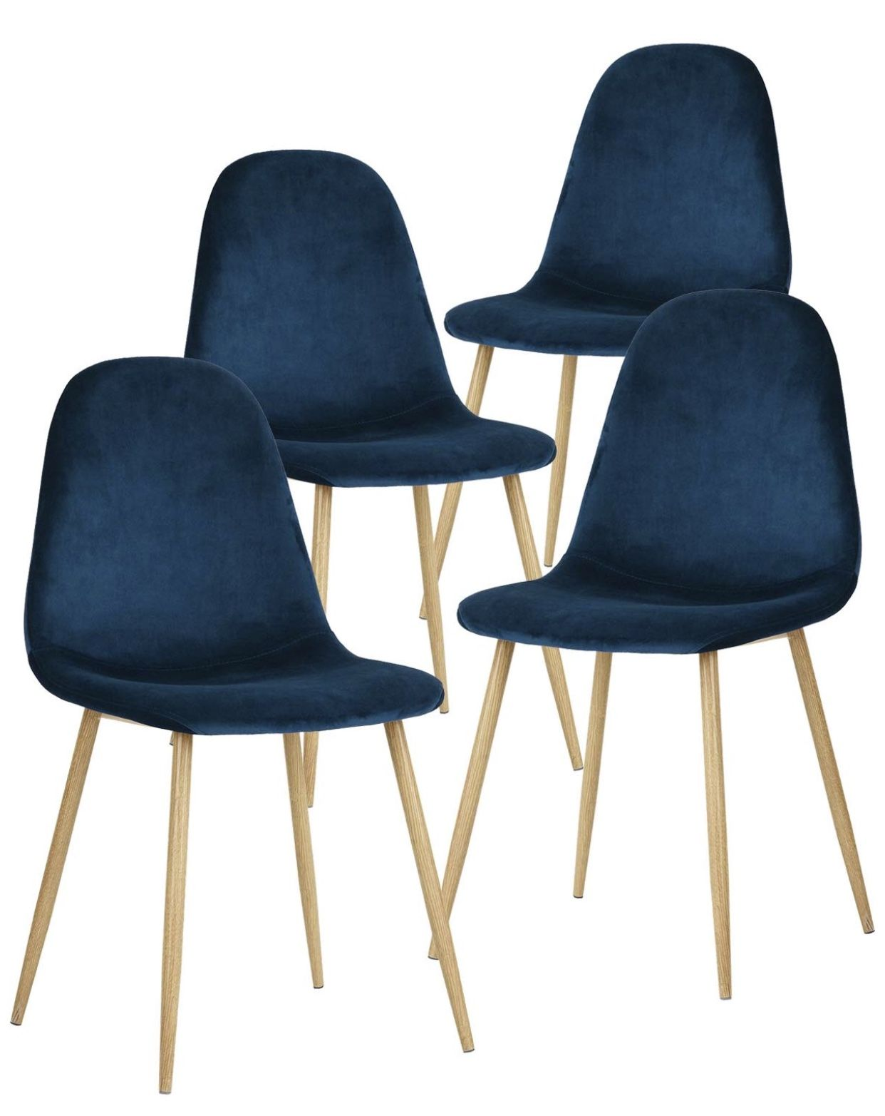 Navy Blue Dining Chairs on Amazon (Set of 4) Modern side
