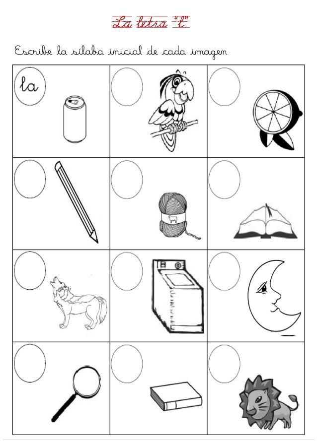 Fichas Letras D Y L Actividades De Letras Ensenanza De Las Letras Consonantes