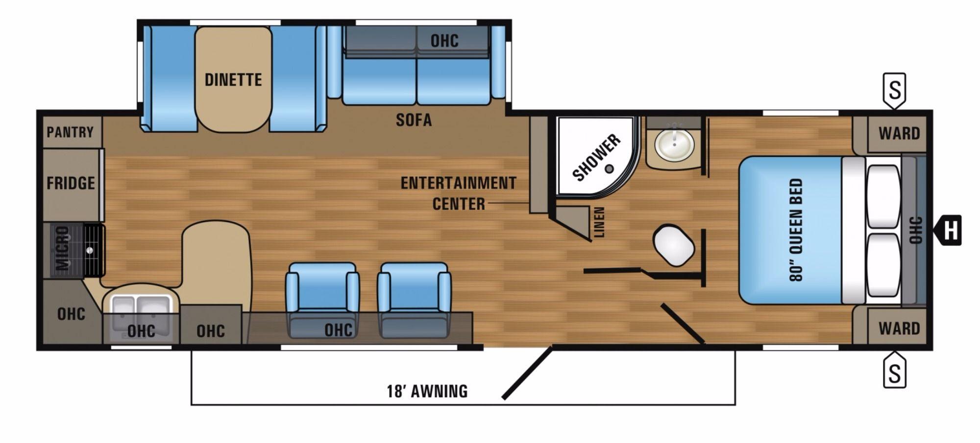 Floor Plan Travel trailers for sale, Floor plans, Jayco