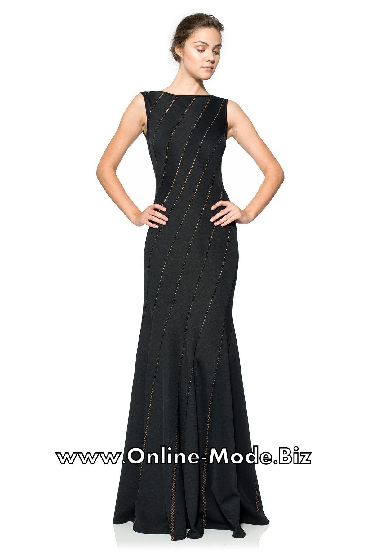 schwarzes abendkleid wanda bodenlang | bodenlange kleider