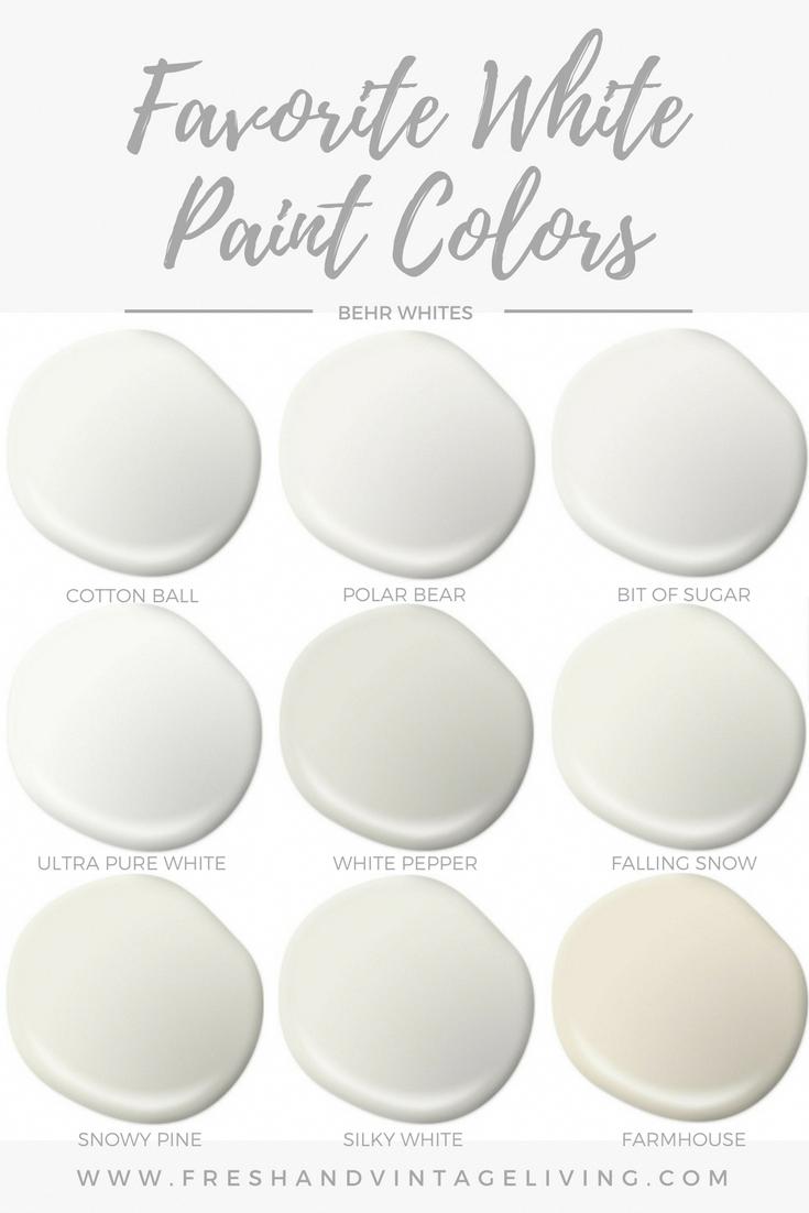 Favorite White Paint Colors Fresh Vintage Living Bedroompaintcolors In 2020 White Paint Colors Farmhouse Paint Colors Off White Paint Colors