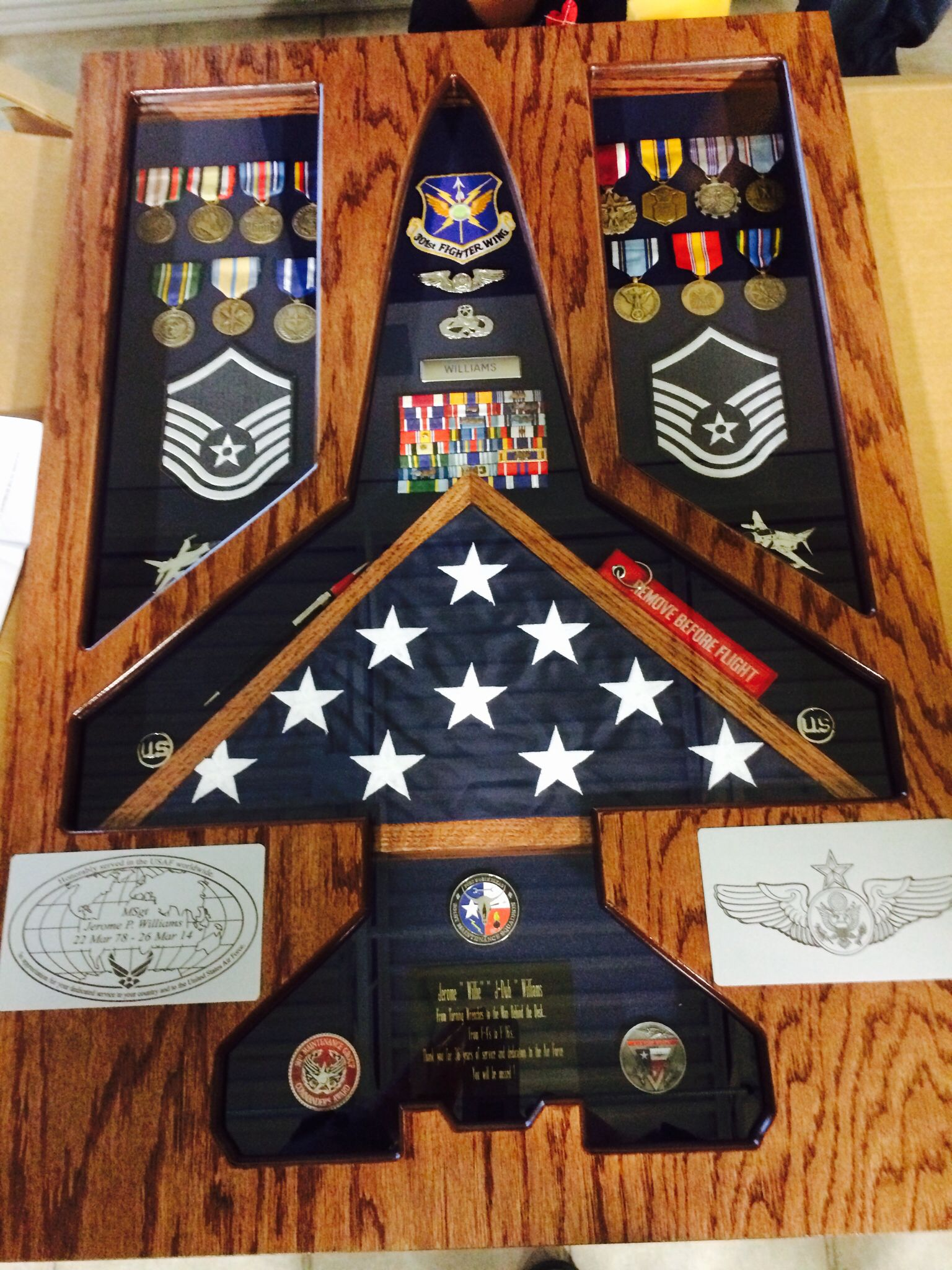 Shadow Box for Retirement Would be cool if I could find a