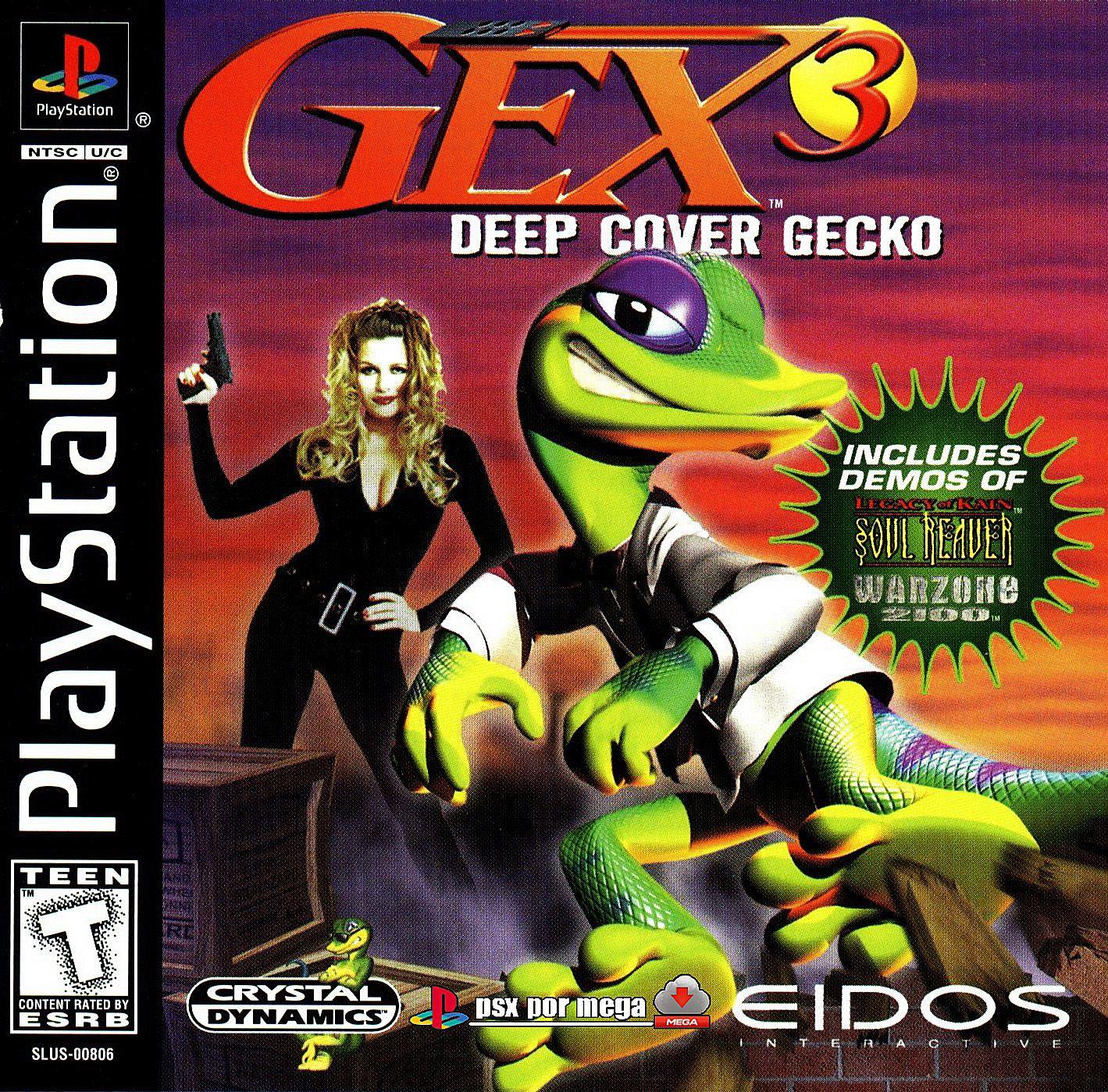 Cover Gex3 Ps1 Juegos De Ps1 Videojuegos Clásicos Juegos Psx