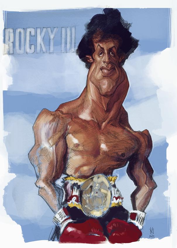 Rocky Iii Por Alberto Russo Caricaturas De Famosos Personajes Caricaturas Personajes Famosos