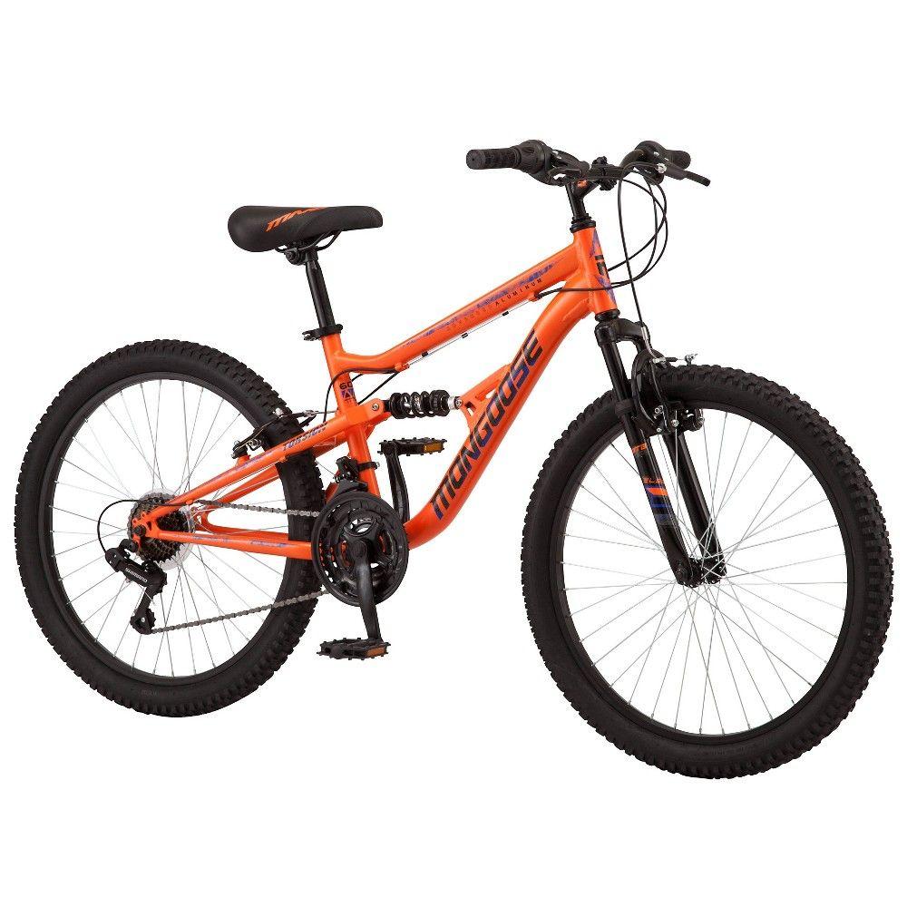 Mongoose Standoff 24 Kid S Mountain Bike Orange In 2020 Kids Mountain Bikes Mountain Biking Photography Mountain Biking Gear