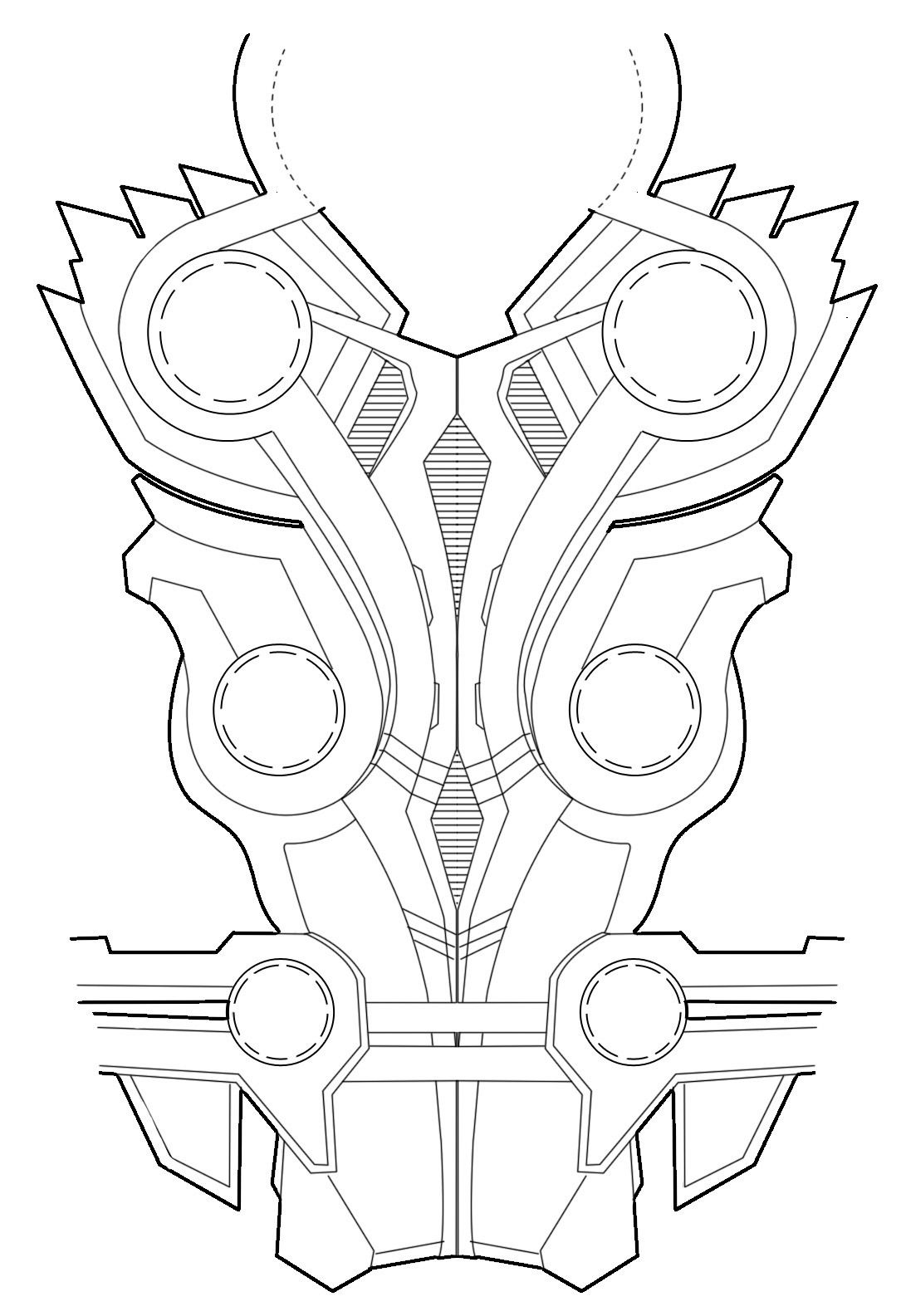 Thors Chest Armor Diagram For Rules Thor Cosplay Feel Free To Use It For Your Cosplay Just Link Back Here So Other People Can Use It Too October