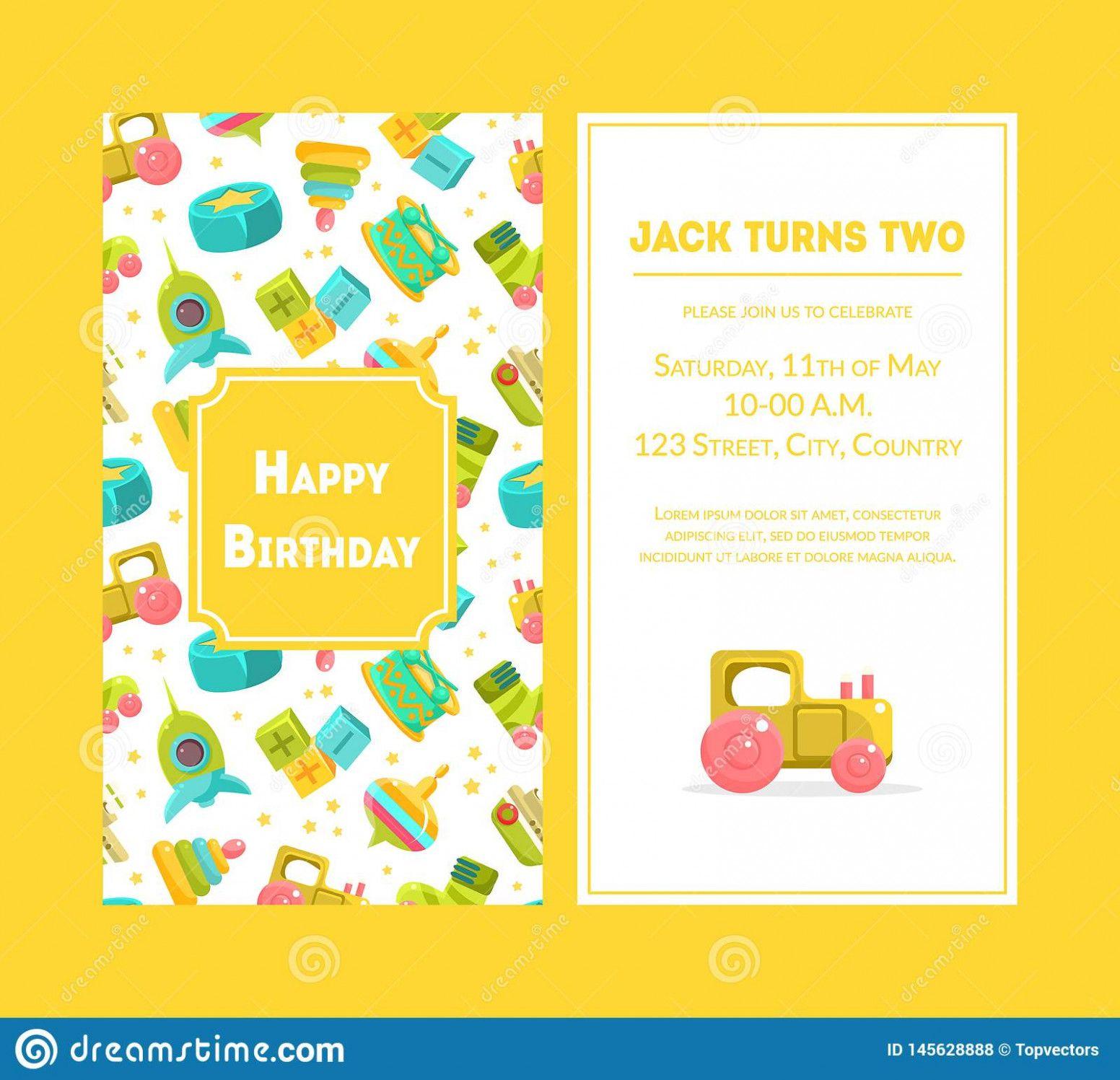 17 Design Invitation Happy Birthday Card Template