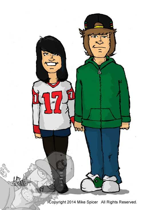 Katie and Cody #caricatures