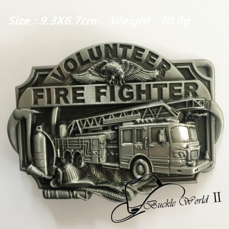 l 3D VOLUNTEER FIRE FIGHTERS Belt Buckle for Men Women