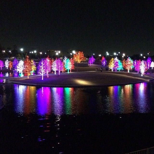 Vitruvian Park in Addison Christmas Lights #christmaslights #lights
