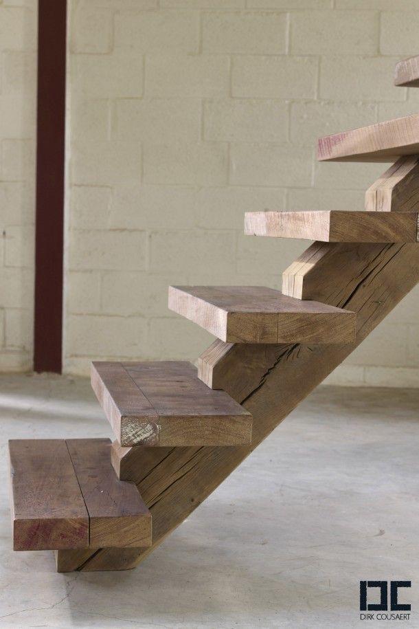 houten trap maken   trap - escada rústica, escadas de madeira en escadas