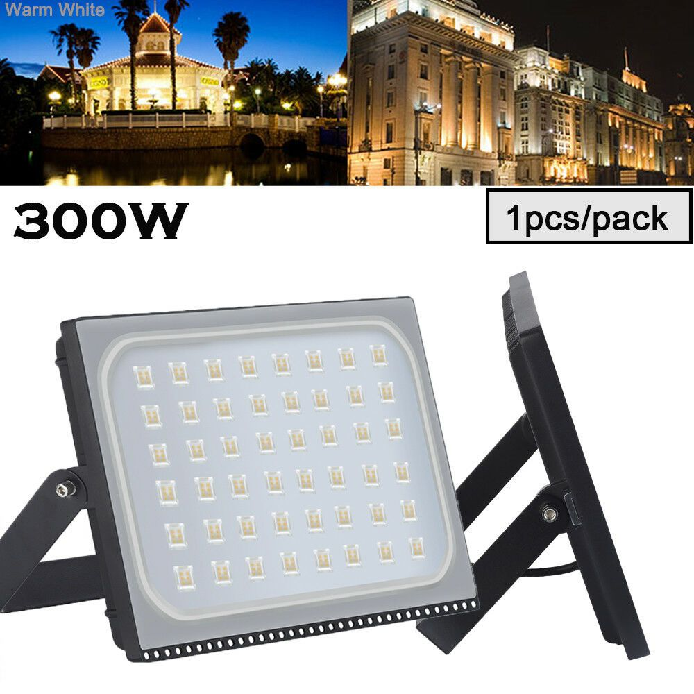 300w 110v Led Smd Flood Light Spot Lamp Warm White Outdoor Garden Landscape Yard With Images Outdoor Gardens Landscaping Flood Lights Led Flood