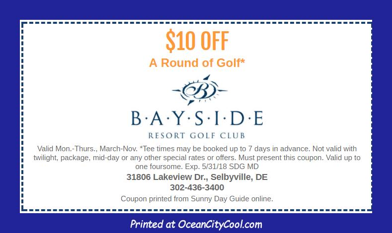 Coupons Bayside Resort Golf Club coupons...