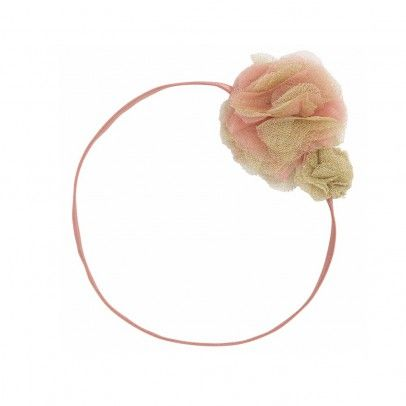 Double Pom Pom flowers headband Coral  ilovegorgeous