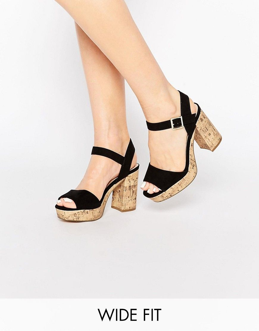New Look Wide Fit WIDE FIT SHOW - Sandalias black eq7Zdy