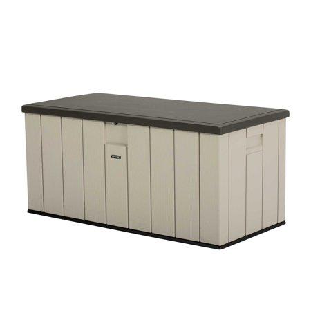 Lifetime 150 Gallon Heavy Duty Outdoor Storage Deck Box Desert